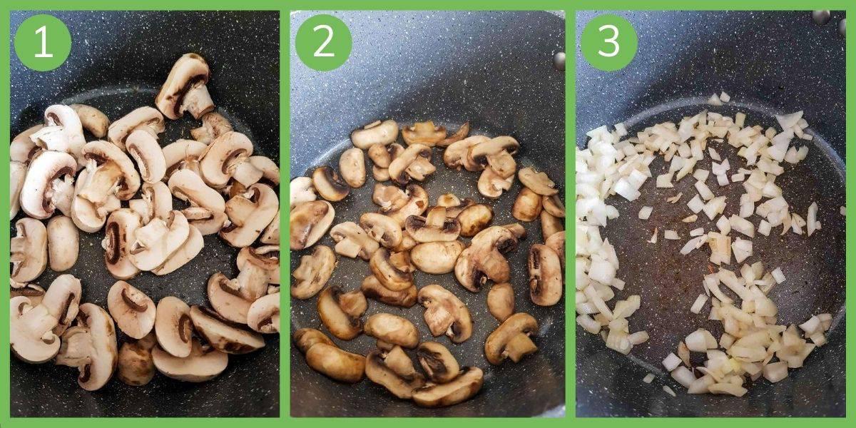 How to make healthy mushroom soup.