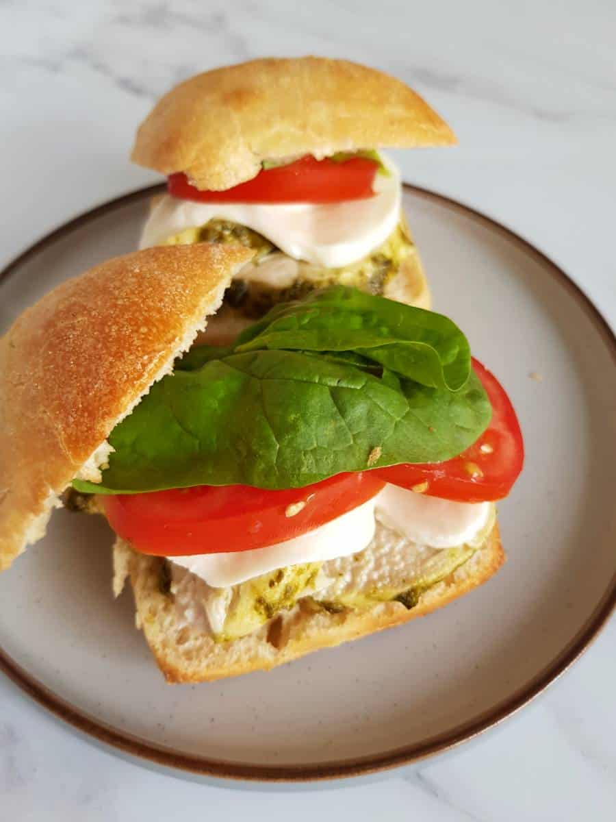 Mozzarella chicken sandwich.
