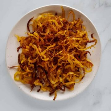 Spiralized Potatoes.
