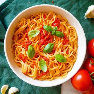 Arrabbiata Spaghetti.