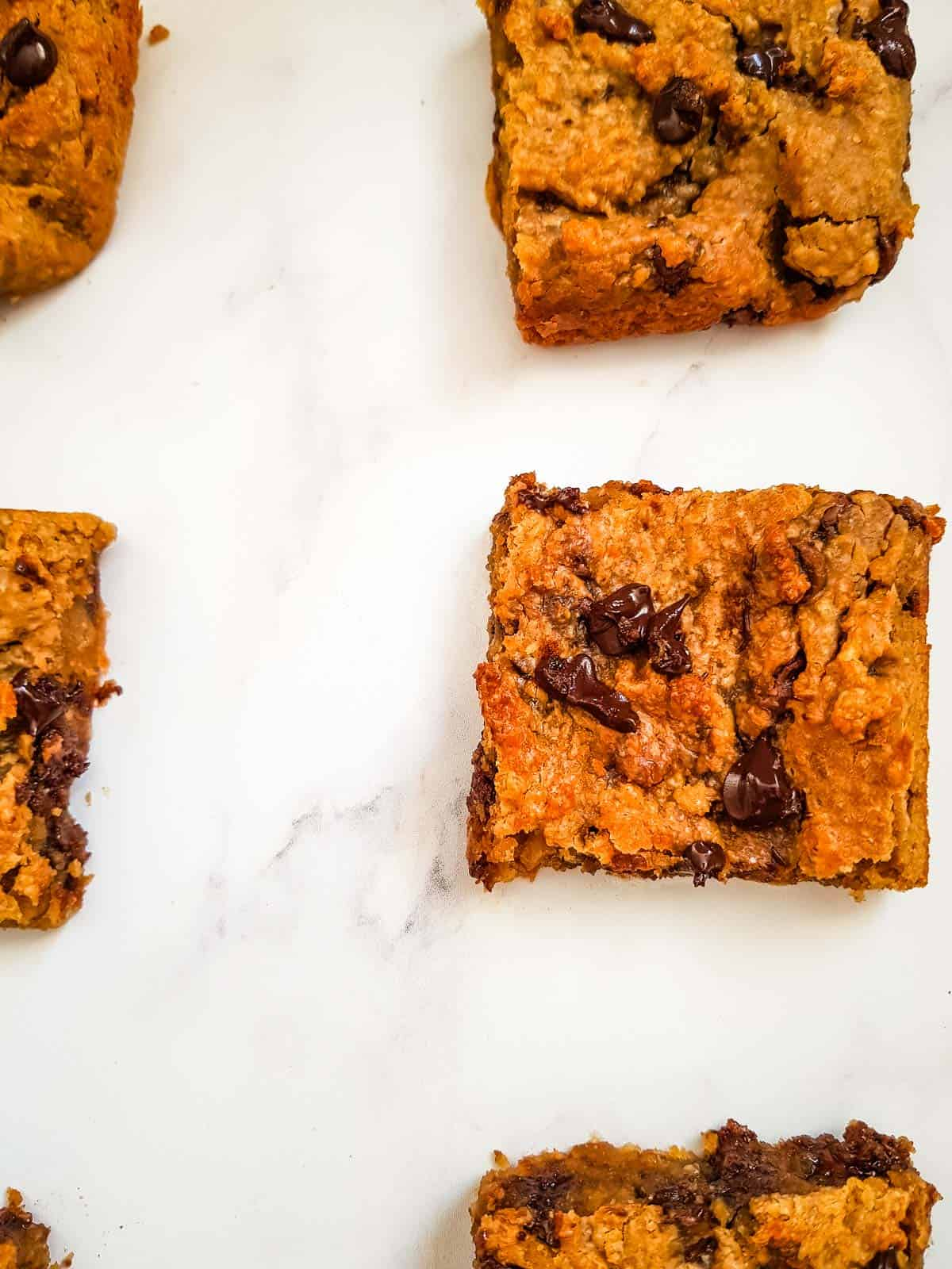 Chocolate chip chickpea blondies.
