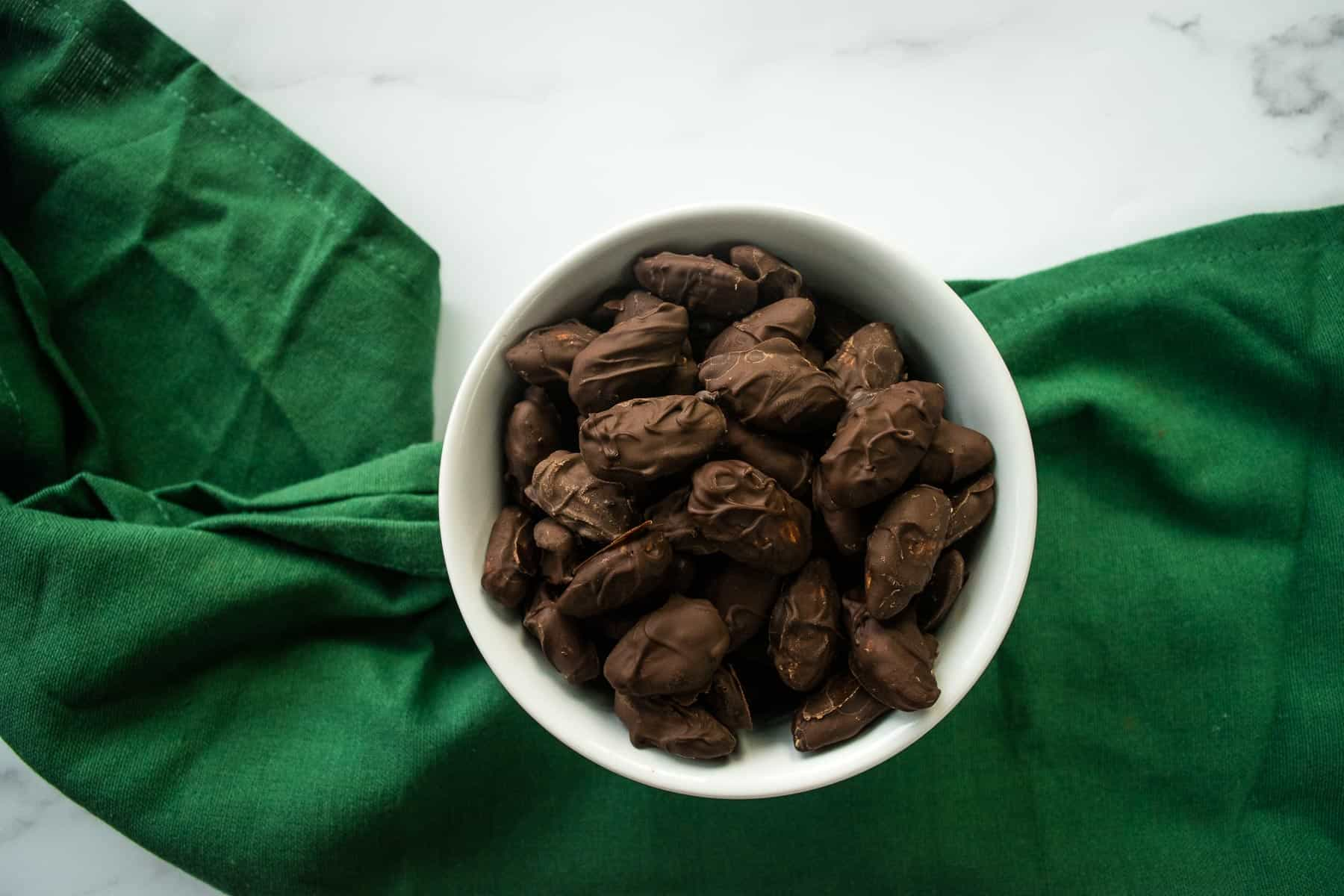 Chocolate almonds.