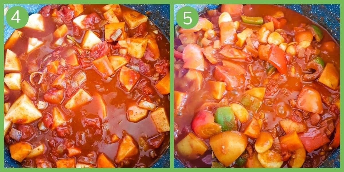 How to make vegetable goulash step 4-5.