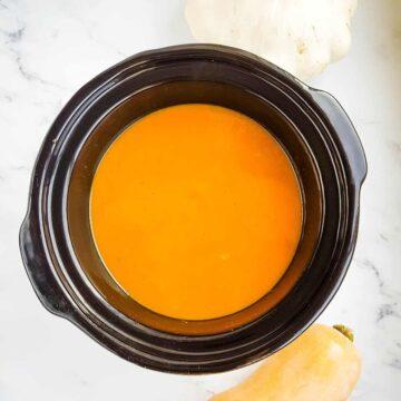 Slow Cooker Pumpkin Soup.