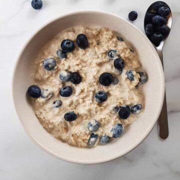 Blueberry Overnight Oats.