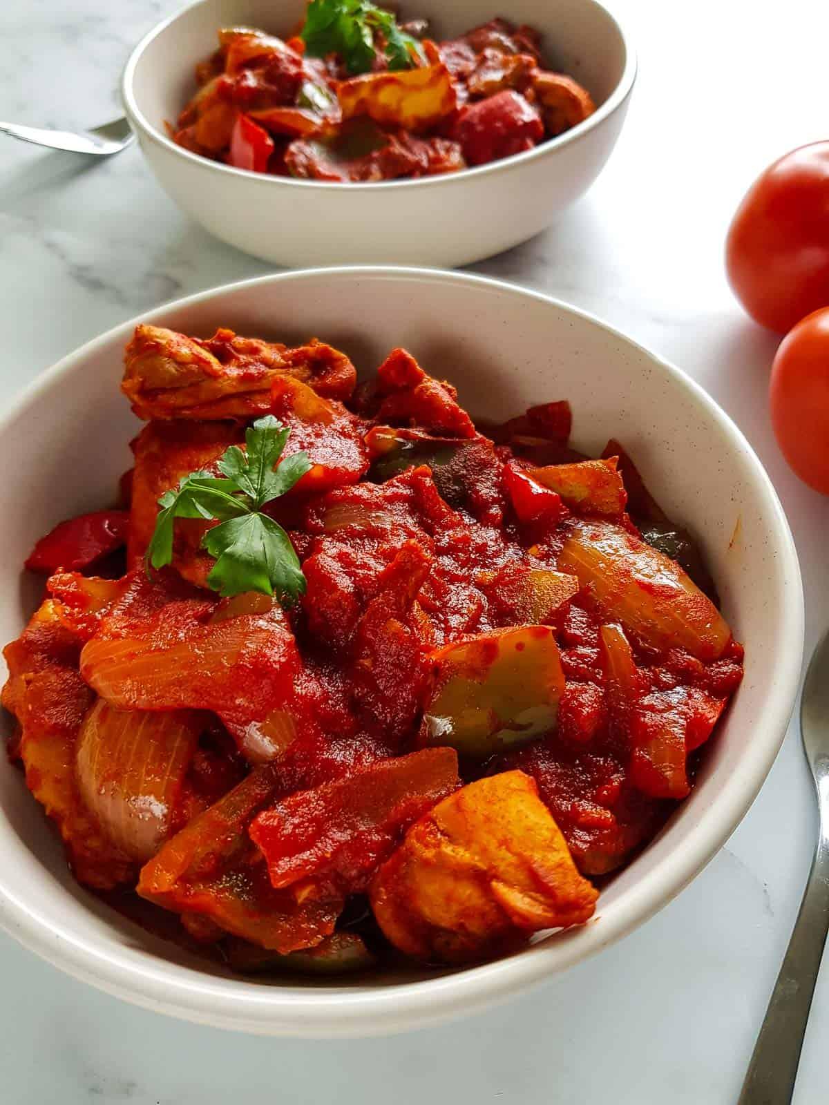 Paprika and chicken stew.