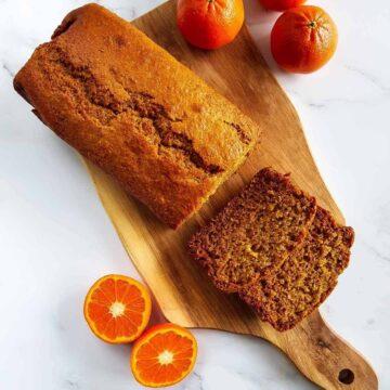 Healthy Orange Loaf Cake.