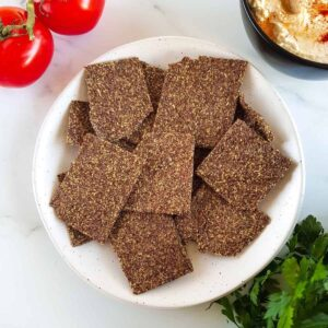 Flaxseed Crackers.