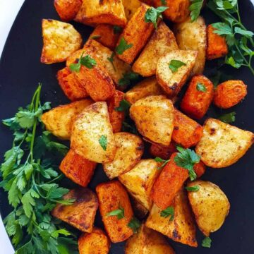 Roasted Carrots and Potatoes.