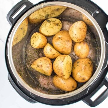 Instant Pot Chicken and Potatoes.