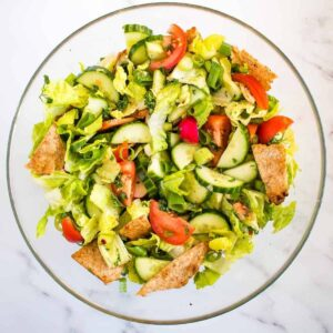 Lebanese Salad Fattoush.