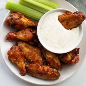BBQ Baked Chicken Wings.
