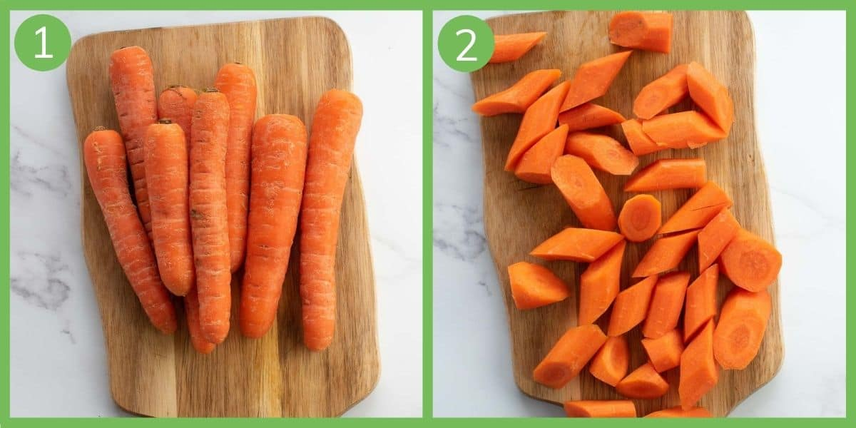 Step by step instructions showing how to make instant pot carrots.