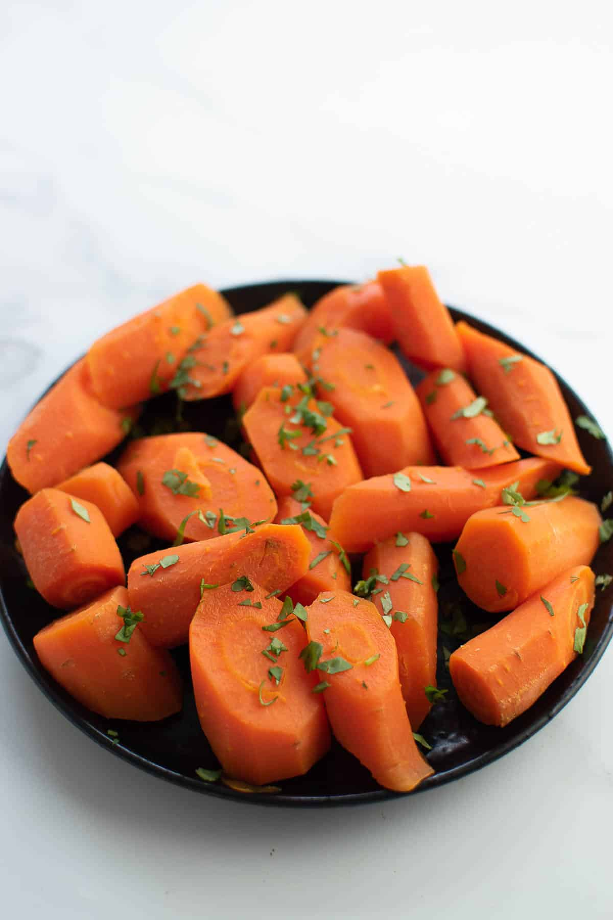 Carrots boiled in instant pot.