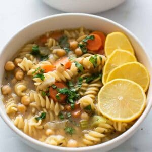 Chickpea Noodle Soup.