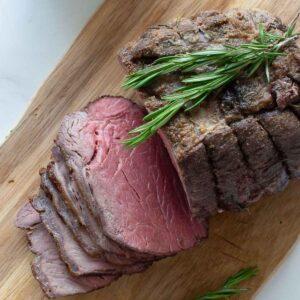 Roast beef topside.