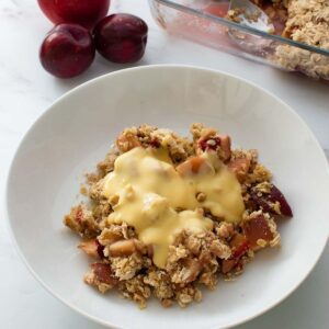 Apple and plum crumble.