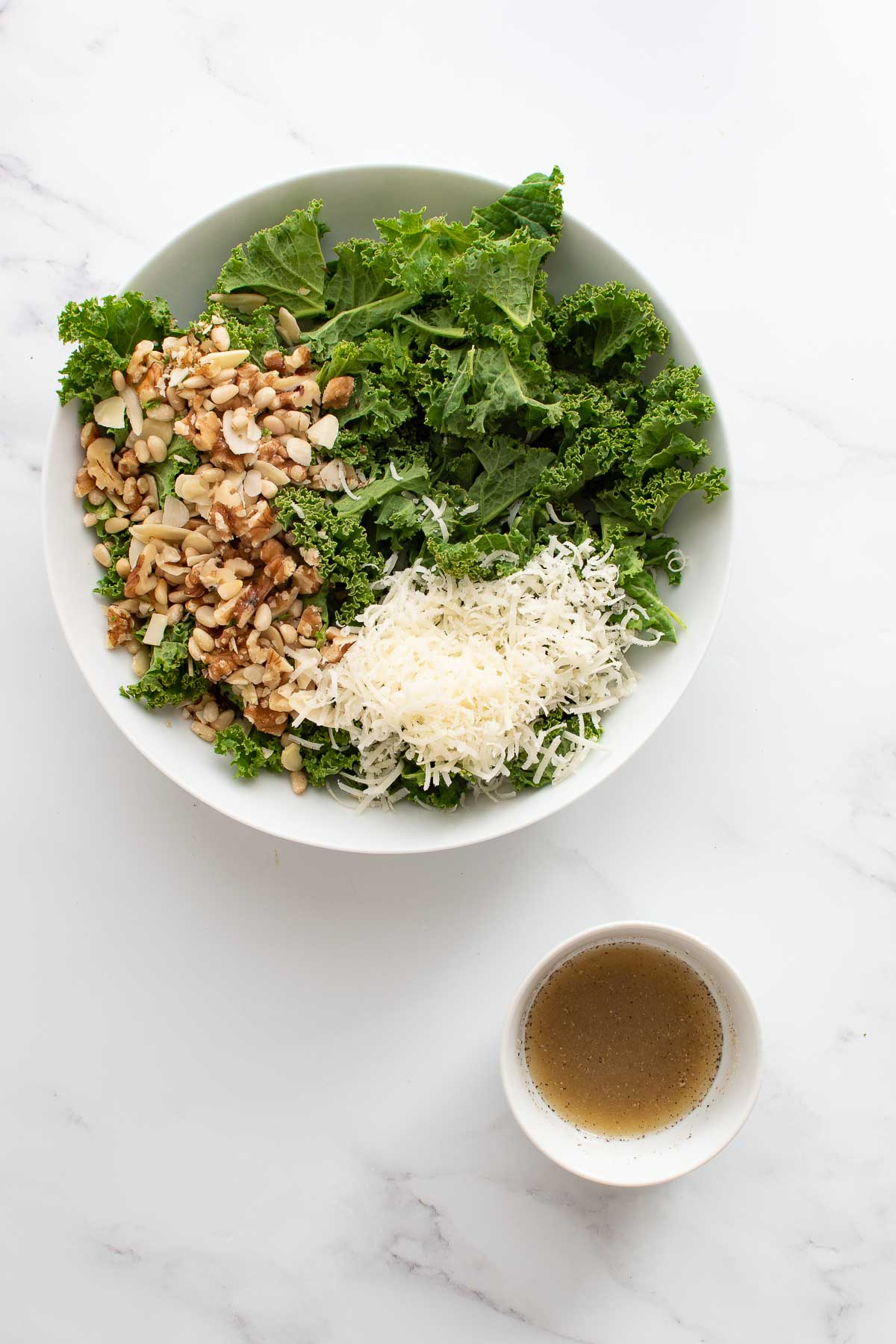 Kale salad with lemon dressing.