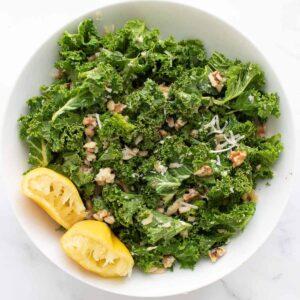 Lemon kale salad.