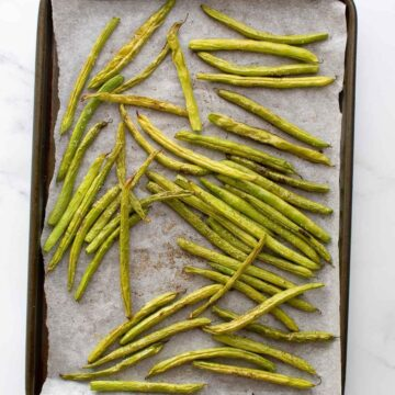 Oven roasted green beans.