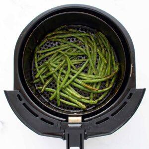 Green beans in air fryer.