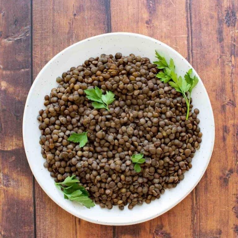 Instant Pot lentils.