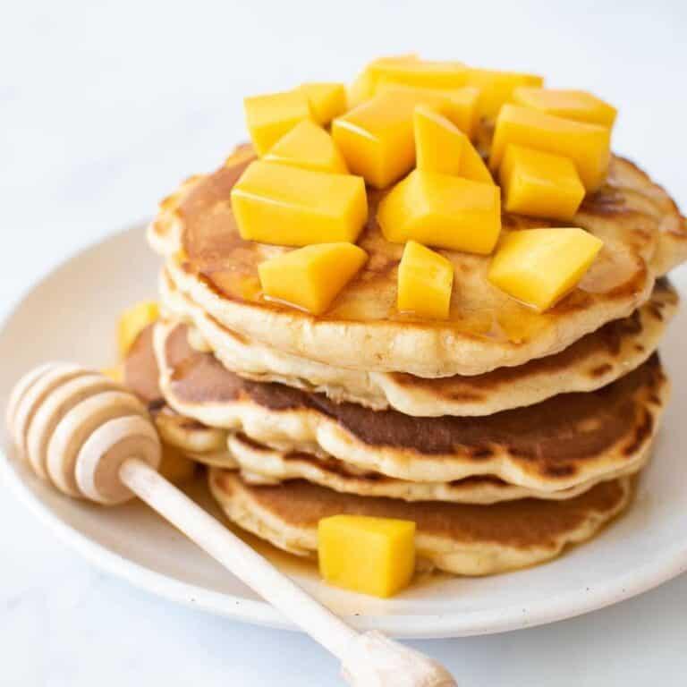 Mango pancakes.