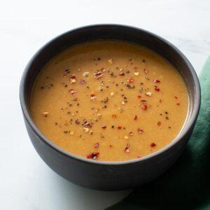 Spicy parsnip soup.