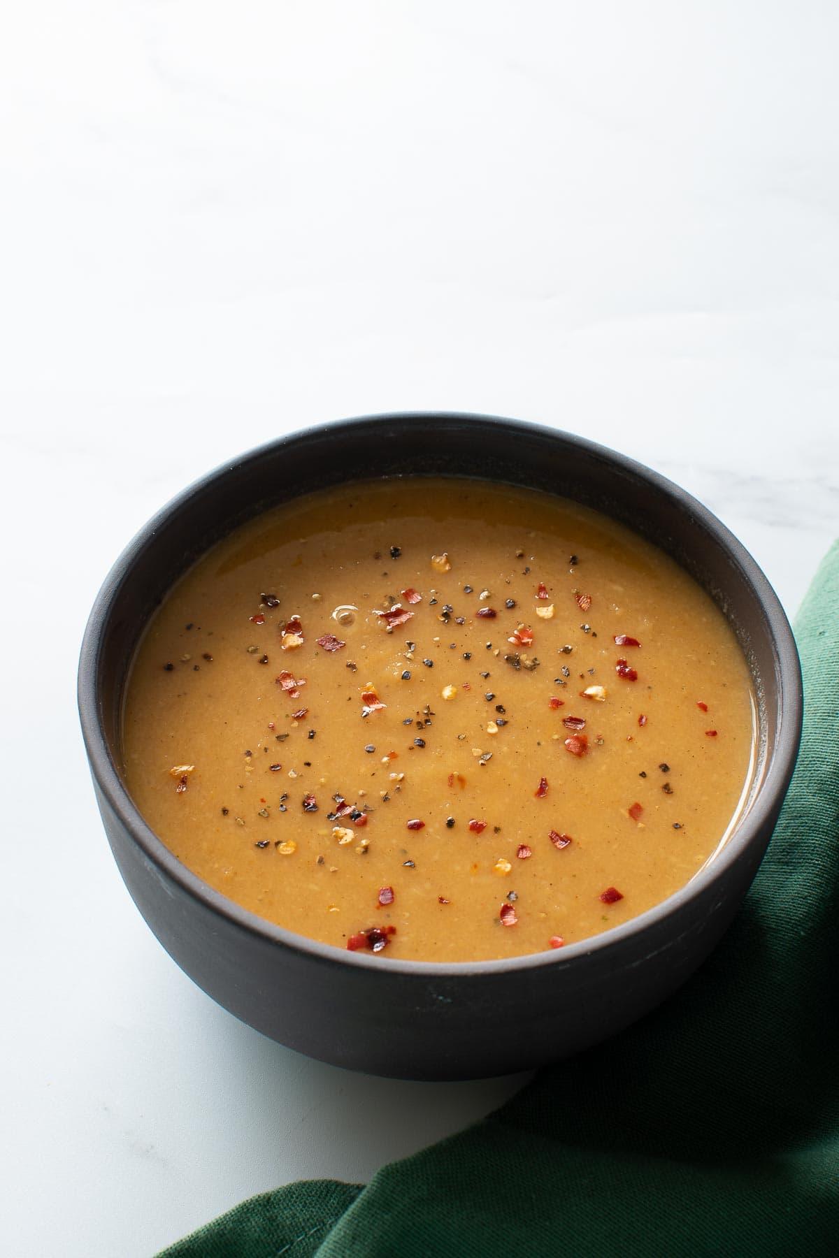 A bowl of parsnip soup.