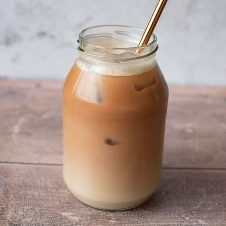 Iced chai latte.