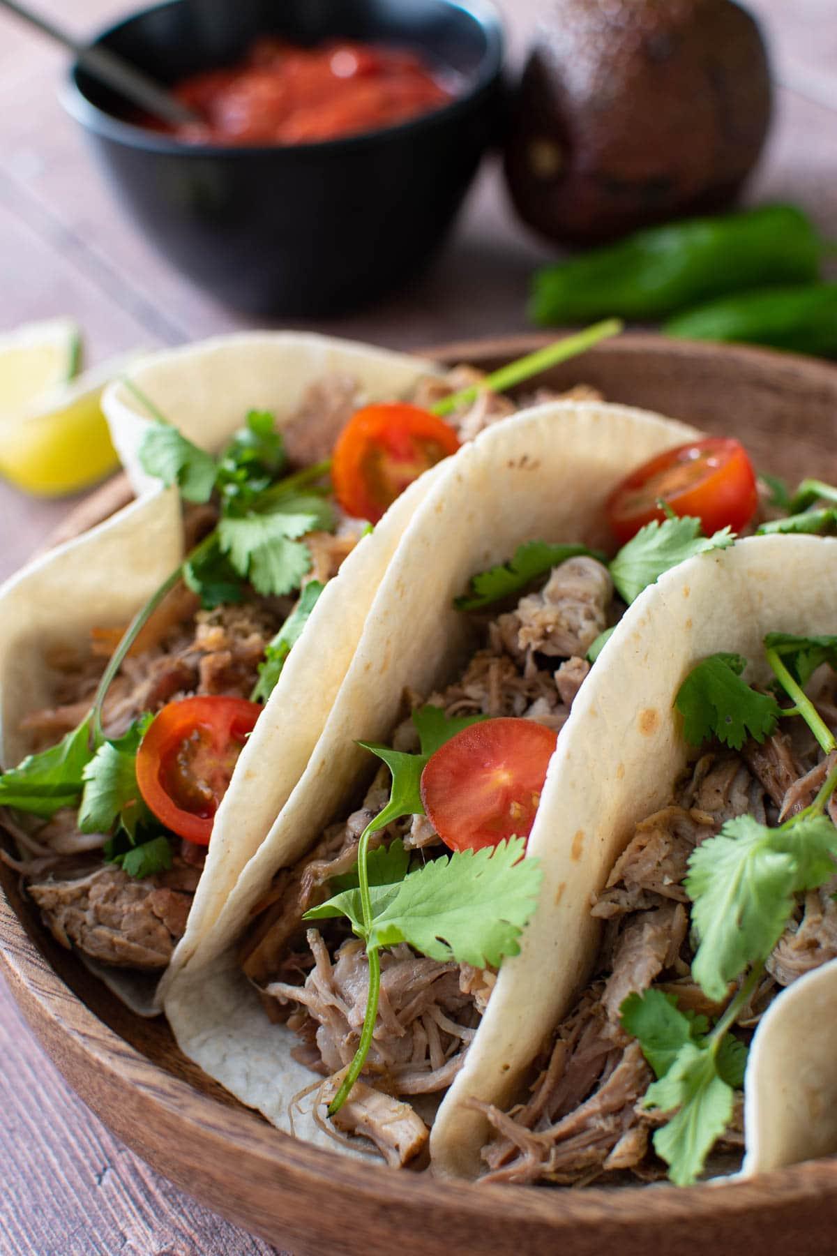 Instant pot carnitas tacos.