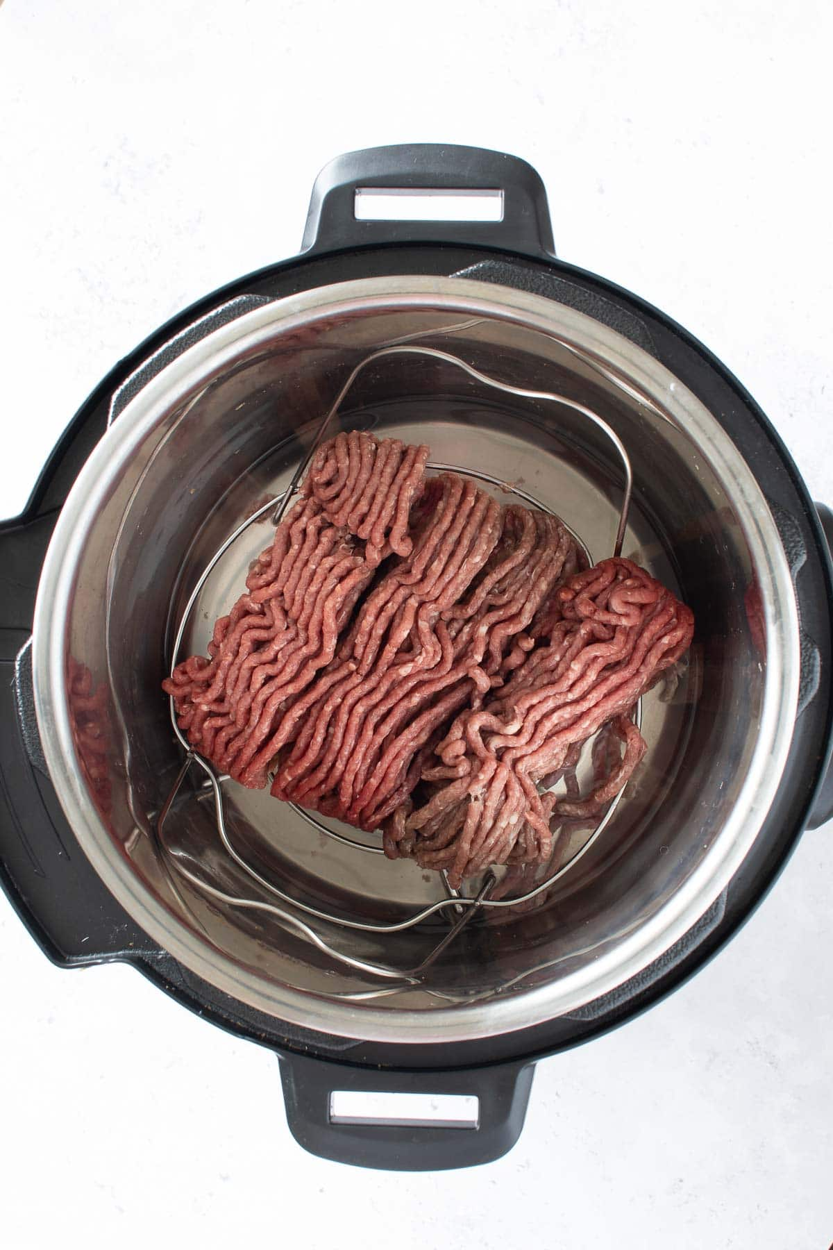 Ground beef in an Instant Pot.