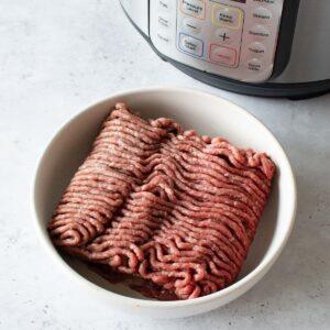 Instant Pot ground beef.