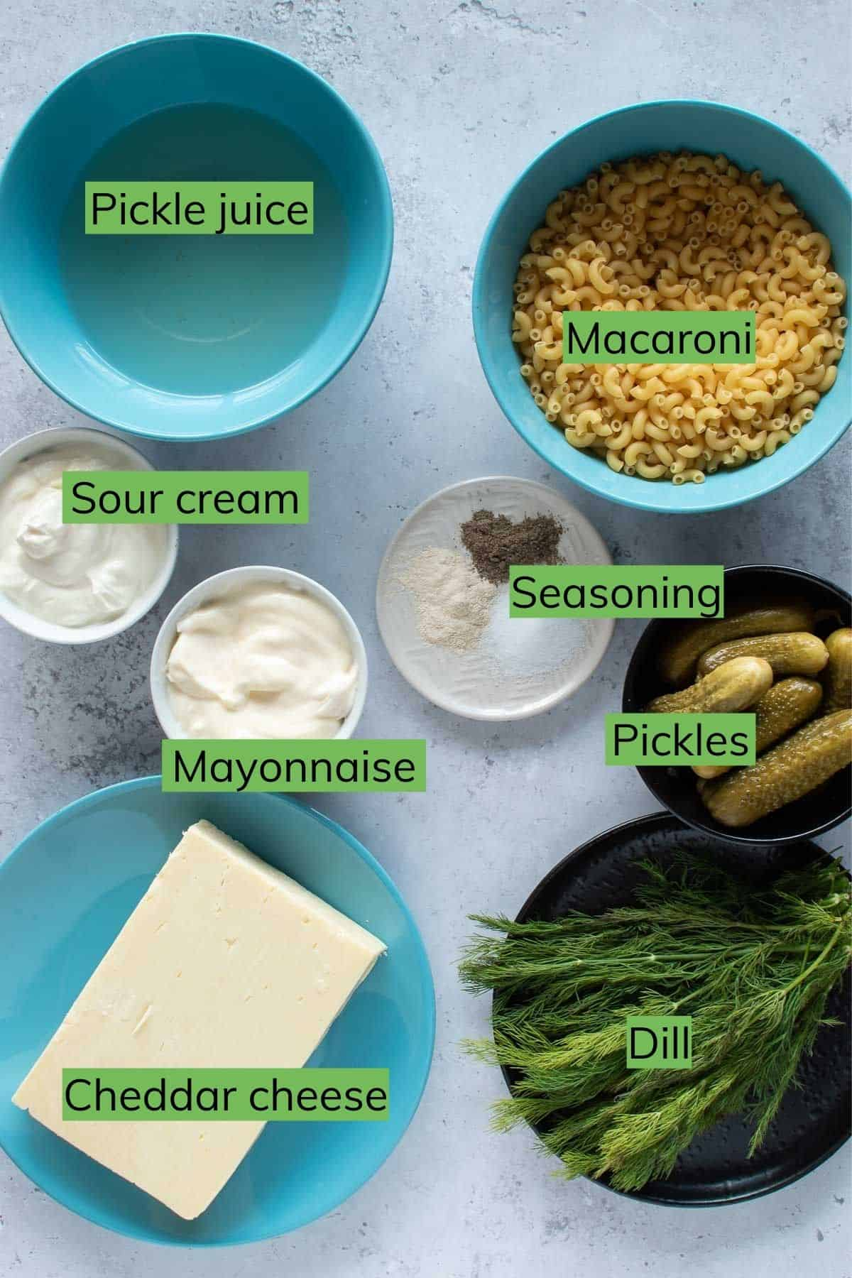 The ingredients needed to make this dish.