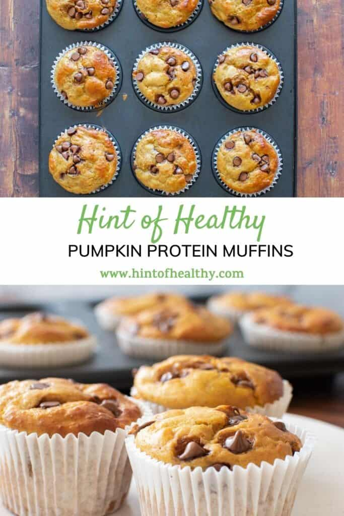 Baked protein chocolate chip muffins.