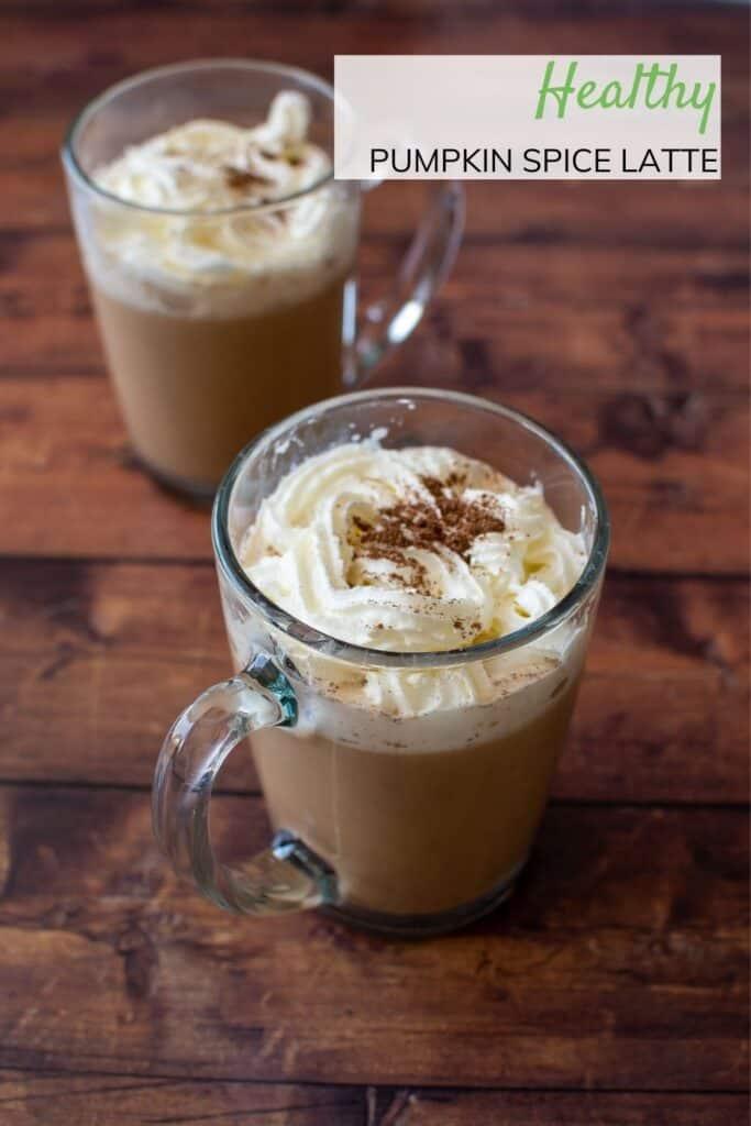 Two glasses of pumpkin spice latte.