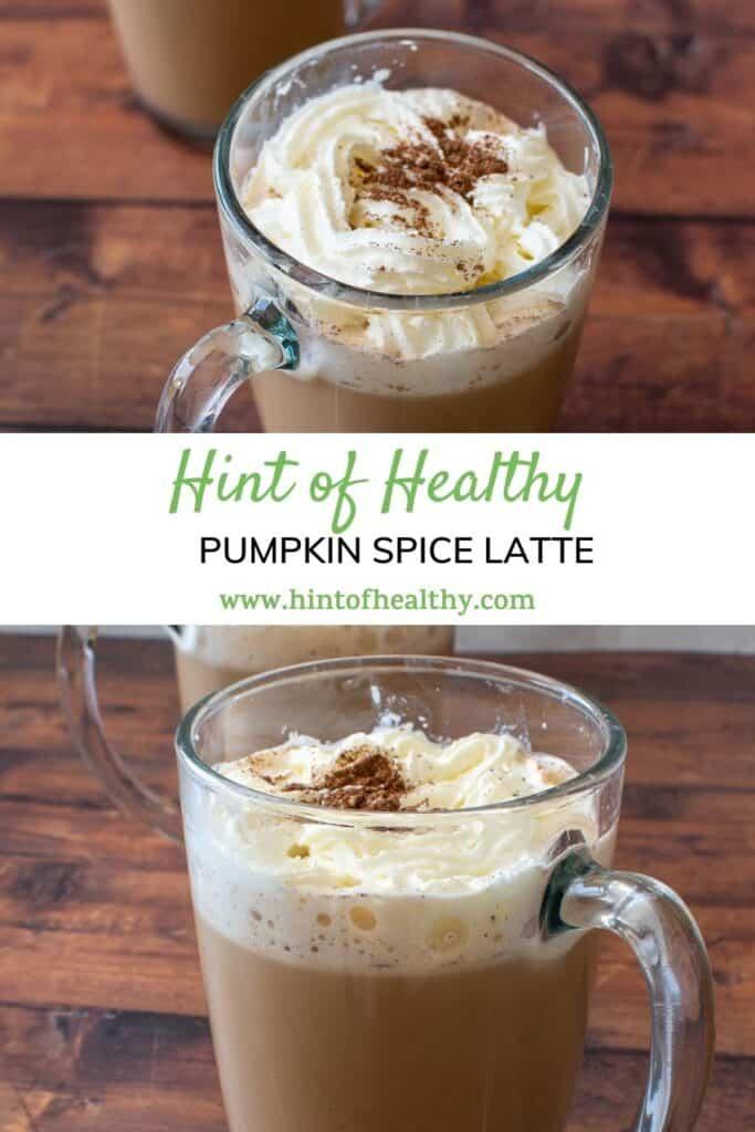 Glasses of pumpkin spice latte.