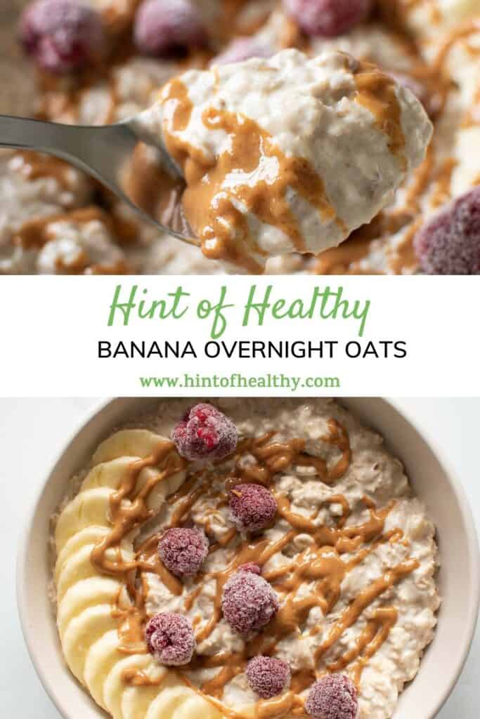 A bowl of overnight oats.