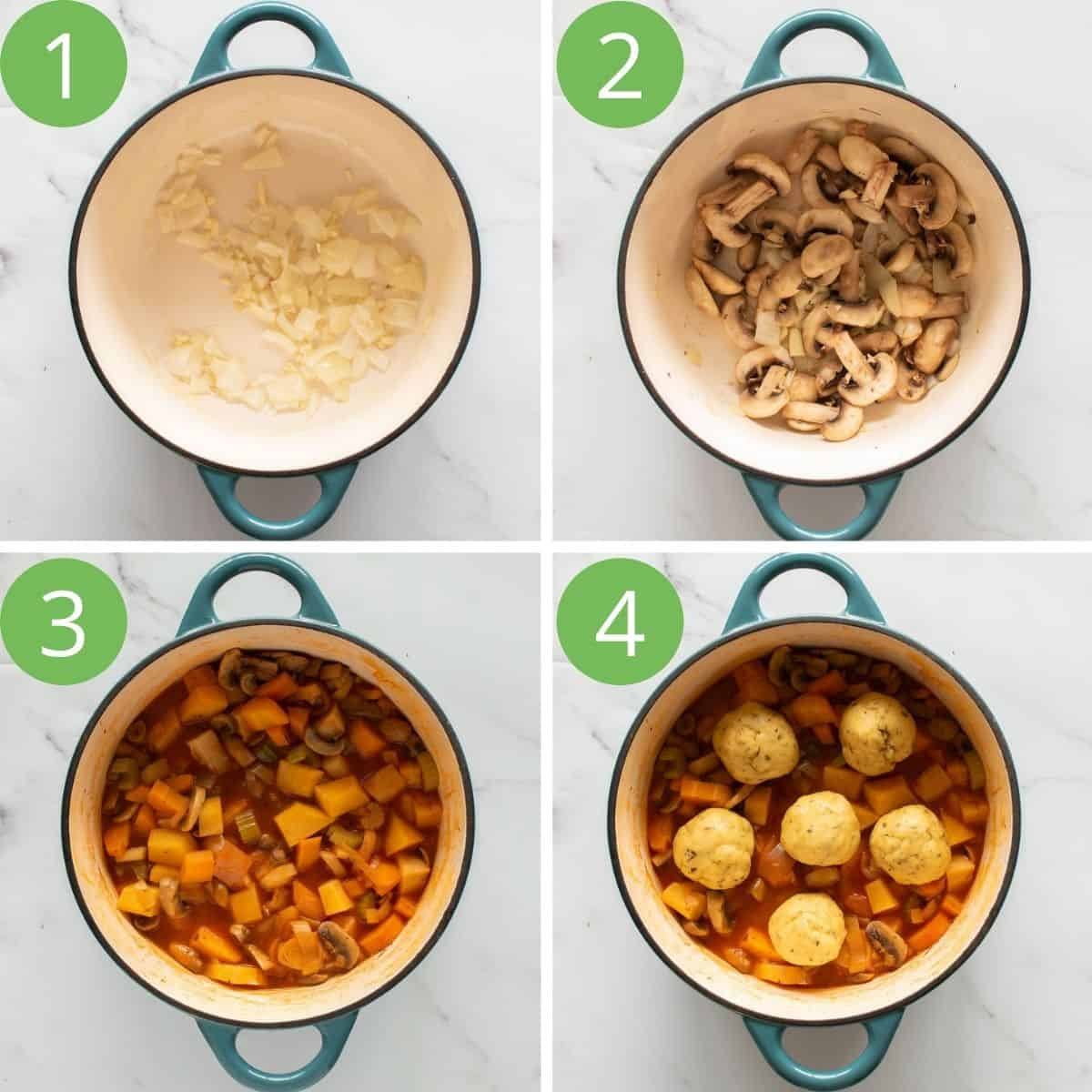 Step by step images showing how to make this recipe.