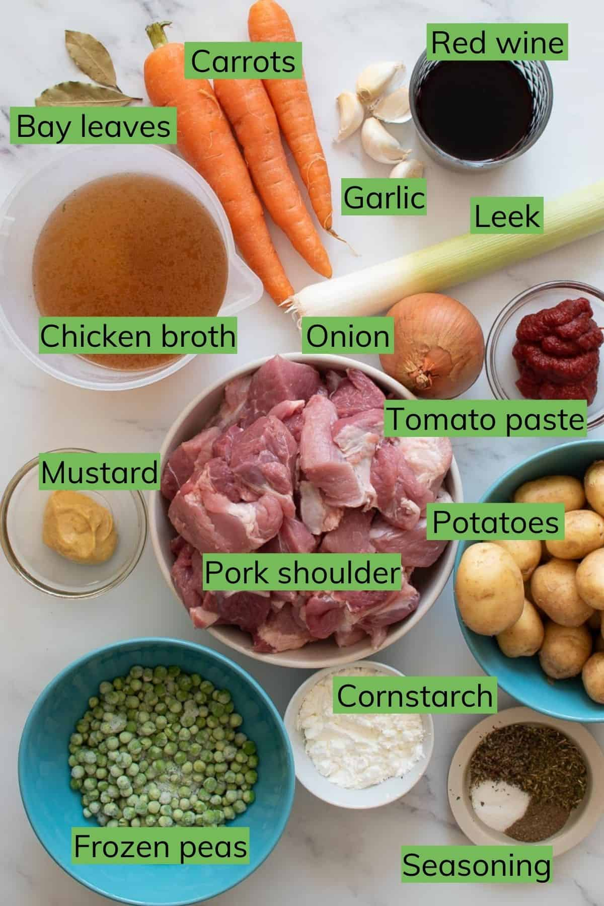 The ingredients needed to make this recipe.