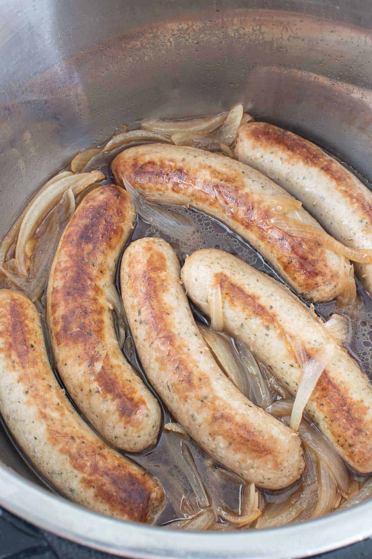 Brats in an Instant Pot.