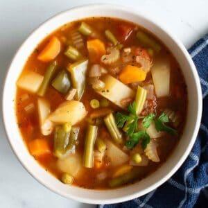 Instant Pot vegetable soup.