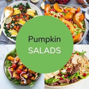 Pumpkin salad recipes.