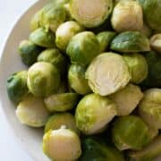 Steamed brussels sprouts.